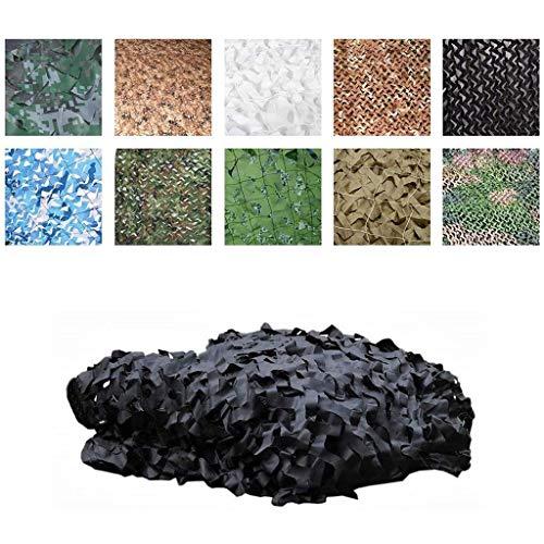 SHH camouflagenet zwart, 2 * 3 m camo netting Woodland, 150D Oxford doek zonwering net, voor outdoor-kamperen, jacht, tuin, fotografie, rolluiken, schieten, militaire decoratie