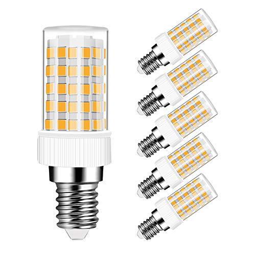 Lampadina LED E14 10W Equivalenti 80W, 800 Lumen, Bianca Calda 3000K, Lampada E14 10W, Non dimmerabile, 5 Pezzi - SUPOO