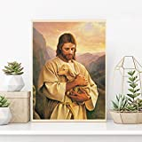 Jesus Lamb Poster Buen Pastor The Good Shepherd Paintings On Canvas Modern Art Decorative Wall Pictures Home Decoration - 50x70cm (No Frame)