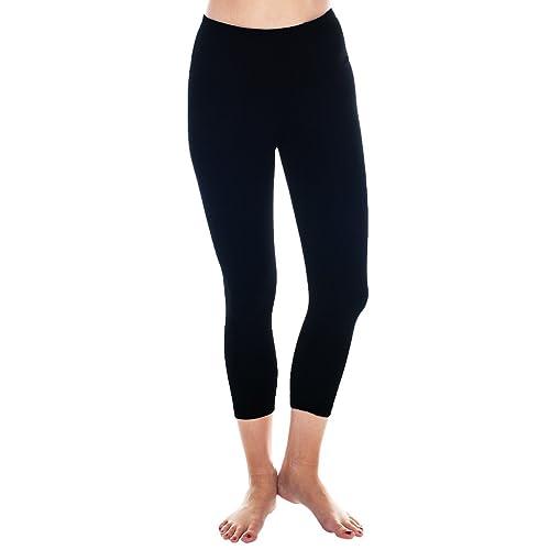 99c1949e5 90 Degree By Reflex – High Waist Tummy Control Shapewear – Power Flex Capri