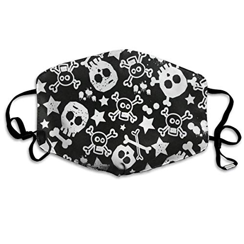 Face Mask Black White Skull Amazing Cycling Half Face Earloop Ski Mask For Man