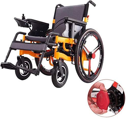 Yuzhonghua La Silla de Ruedas eléctrica Personas con discapacidad portátiles Plegables, más largas 20Km20A Unidad de Litio de la batería de 24 Pulgadas Ruedas, Dos Modos de discapacidad