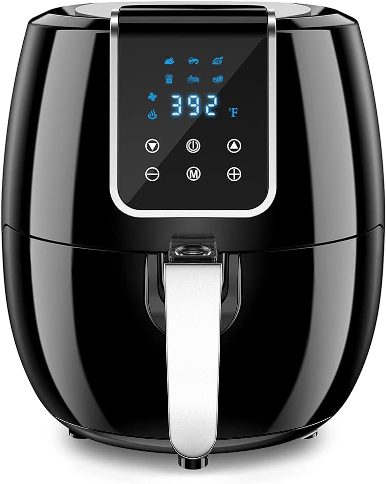 6-in-1 Air Fryer, 7 Quart Smart Electric Hot Airfryer Oven Oilless Cooker, 1800W Large Capacity Multifunction Health fryer with LCD Digital Screen and Nonstick Frying Pot, ETL/UL Certified