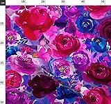 Lila, Pink, Blumen, Fuchsie, Boho, Blau Stoffe -