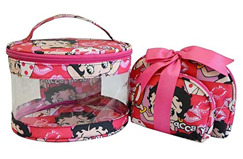 Betty Boop Makeup Bag 3 Pieces Set pink black travel