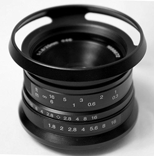 Hengyijia 25mm F1.8 黒色 単焦点レンズ Panasonic Olympus マニュアルフォーカスマイクロフォーサーズ適用する