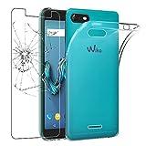 ebestStar - Wiko Tommy 3 Hülle Handyhülle [Ultra Dünn], Premium Durchsichtige Klar TPU Schutzhülle, Soft Flex Silikon, Transparent + Panzerglas Schutzfolie [Phone: 149 x 71.8 x 9.3mm, 5.0'']