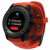 Parnerme GPS Running Reloj GPS con Monitor de frecuencia Cardiaca en la muñeca, Monitor de Actividad y (Orange)