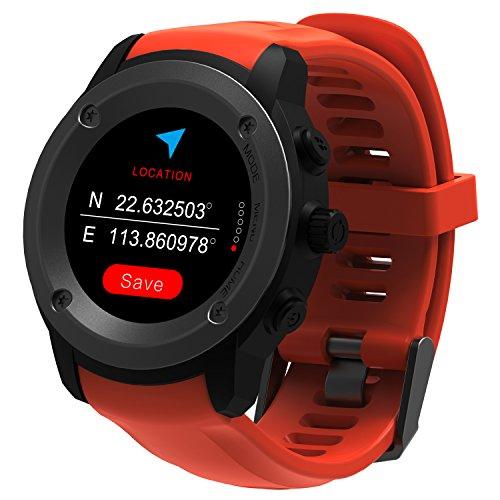 GPS running Watch orologio sportivo cardiofrequenzimetro con wrist-based frequenza cardiaca notifiche Smart compatibile con iOS 8.0e Android 4.4e superiori, route Tracking, conta passi, distanza, passo