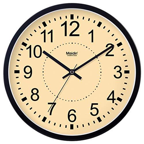 Everyday home Moderne Silent Horloge murale Non-Ticking Précis Mouvement de précision Metal Frame Glass Cover, Décoratif Pour Cuisine, Salon, Chambre à coucher, Salle de bains, Chambre à coucher, Bure