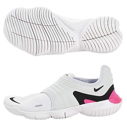 Nike Women's Free Rn Flyknit 3.0 Ankle-High Fabric Running, Half Blue / Black / White, 6