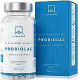 Probiótico [50 billones de UFC por dosis diaria (2 cápsulas)] de AAVALABS - 20 Cepas Bacterianas por Porción - Fórmula de Amplio Espectro de Alta Potencia - 60 Cápsulas