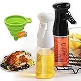 Olive Oil Sprayer Mister for Cooking,2 Pack Oil Sprayer Dispenser Bottle for Grilling Cooking,7 Oz / 210 Ml Refillable Olive Oil Sprayers for Cooking,BBQ, Salad, Kitchen Baking, Roasting, Frying