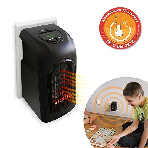 Livington Handy Heater 500 Watt Effektive Keramik Mini Heizung für die Steckdose das TV Original von Mediashop
