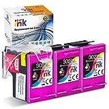Starink 302XL Cartuchos de tinta compatibles con HP 302 XL para HP Deskjet 1110 2130 1115 2132 3632 ENVY 4520 4527 4524 4521 4522 Officejet 3830 3831 4650 3832 (3 Tricolor)
