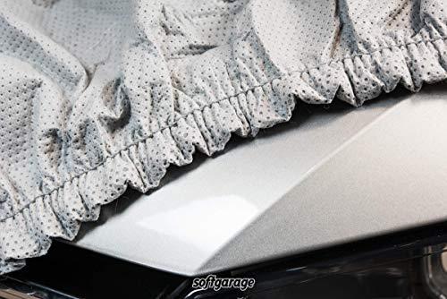 SOFTGARAGE 3-lagig lichtgrau Indoor Outdoor atmungsaktiv wasserabweisend Car Cover Vollgarage Ganzgarage Autoplane Autoabdeckung 105010-0708316