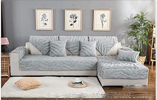 Ginsenget Protector de Muebles Funda de sofá,cojín Cubierta de sofá Protector de Muebles Antideslizante sofá,Cojín de sofá,Gris,70 * 120cm