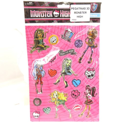 Monster High [K8680] - Planche de 20 stickers 3D 'Monster High'