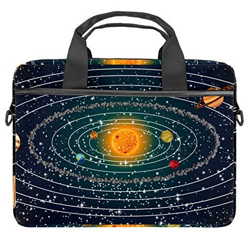 Laptop-Bag Space Planets Galaxy - Maletín con asa para portátil (13,4-14,5'), color morado