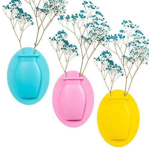 Vaso Magico In Silicone, 3 Pcs Adesivo Per Vaso In Silicone, Adsorbimento, Vaso Per Fiori, Vaso Rimovibile E Riutilizzabile, Decorazione Vaso Di Fiori, Per Piante Artificiali, Frigorifero, Finestra