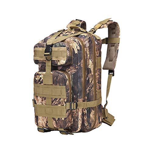 Hanggg Mochila táctica de fanático del ejército camuflaje mochila impermeable multifunción bolsa de senderismo para caminar al aire libre mochila