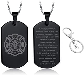 Best firefighter prayer keychain Reviews