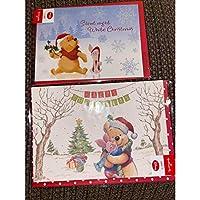 プーさん クリスマスカード 2枚セット