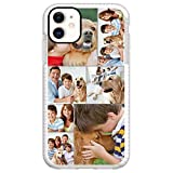 Custom Photo Phone Case for iPhone 11, Multi-Picture collages Customized Shockproof Impact Case STYLETiFY Personalized Protective Anti-Scratch Phone Cover Xmas Valentine Gift White Template E