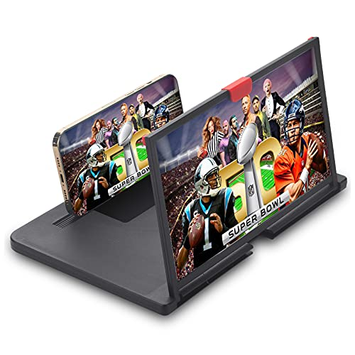12' Phone Screen Magnifier,3D HD Screen Projector,Fit Watch Movies,Games,Videos ,New...
