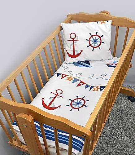 2 Stück Baby Kinder Quilt Bettdecke & Kissen Set 80x70 cm passend für Kinderbett oder Kinderwagen Muster 16