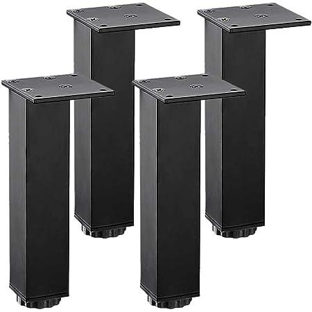 Patas para Muebles 5cm/6cm/8cm/10cm/12cm/15cm/18cm/20cm/25cm/30cm Regulables Pies de Muebles Ajustables Aluminio Cuadradas Patas Mueble para Mueble de ...