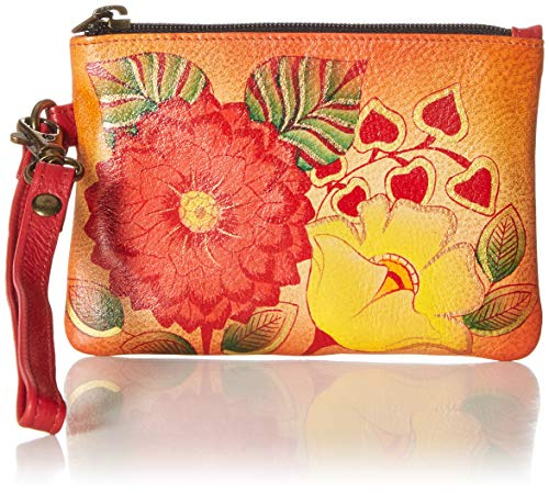 Anna by Anuschka Women's Hand Painted Leather Coin Purse Multi Size: One Size