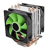 Regalo DiferenteVentilador de la CPU, ventilador verde eficiente...
