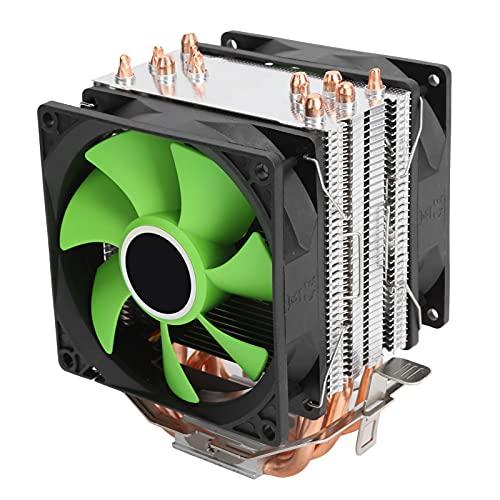 Ventiladores de refrigeración de Ordenador de 3 Pines y 9 CM, radiador de CPU con Fuerza de Viento Grande de diseño de Doble Torre Apto para Intel LGA775 / 1155/1156/1366 AMD AM2 / AM2 + / AM3