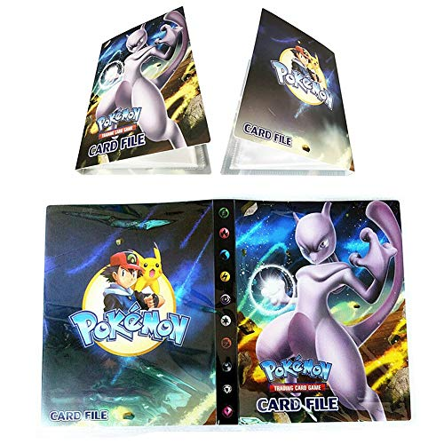 Álbum Titular de Tarjetas Pokémon Carpeta Carpeta Libro 30 páginas 240 Tarjetas Capacidad (Mewtwo)