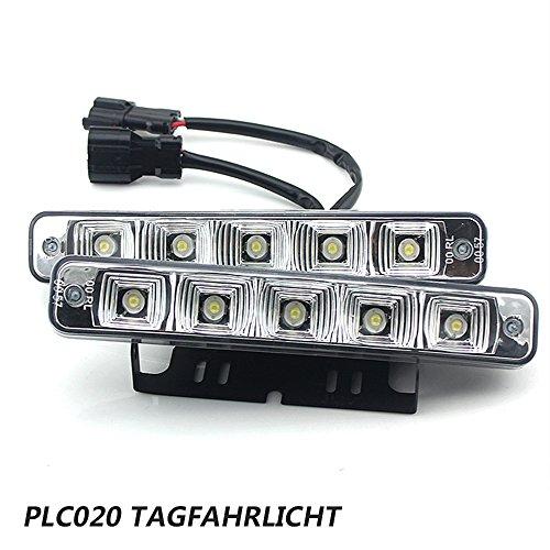 PLC020 10W 12V super brillant conduit feu - circulation diurne e4 voiture jour