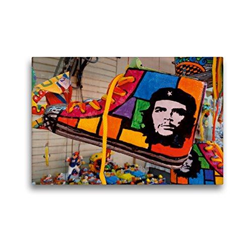 CALVENDO Premium Lienzo 45 cm x 30 cm Horizontal, Souvenir Cubano con el Retrato de Che Guevaras, Imagen sobre Bastidor, Listo en Lienzo auténtico, impresión en Lienzo Orte Lugares.
