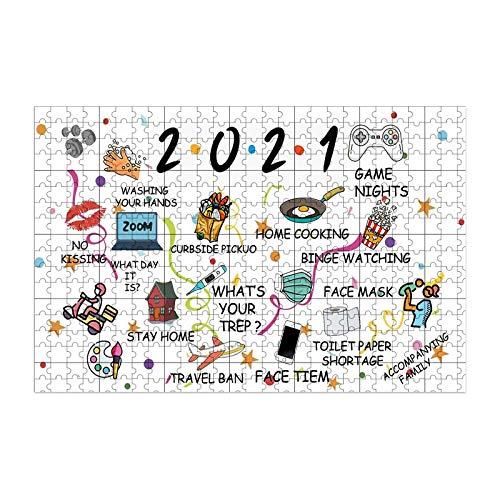 2021 Memories 1000 piezas de papel hecho de rompecabezas infantil 2021 patrón rompecabezas