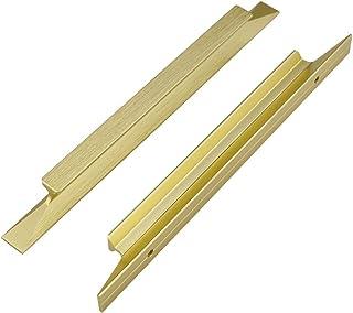 homdiy Brushed Brass Cabinet Pulls Drawer Pulls -LS7024GD Burshed Brass Cabinet Handles Kitchen Cabinet Hardware Metal Cab...