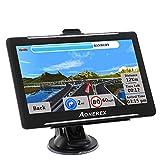 Aonerex GPS Navi Navigation für Auto LKW PKW KFZ 7 Zoll Navigationsgerät mit Blitzerwarnung POI Sprachführung Fahrspur Lebenslang Kostenloses Kartenupdate 2020 UK Europa 52 Karten