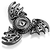 MAYBO SPORTS Fidget Sensory Toy,Hand Spinning Toy, Help Relieves Stress and Anxiety for Children and Adults,Phoenix Dragon Wings Eyes, Matt Black