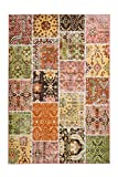 One Couture Vintage Alfombra Patchwork Colorido Amarillo Fucsia Salón 200cm x 290cm