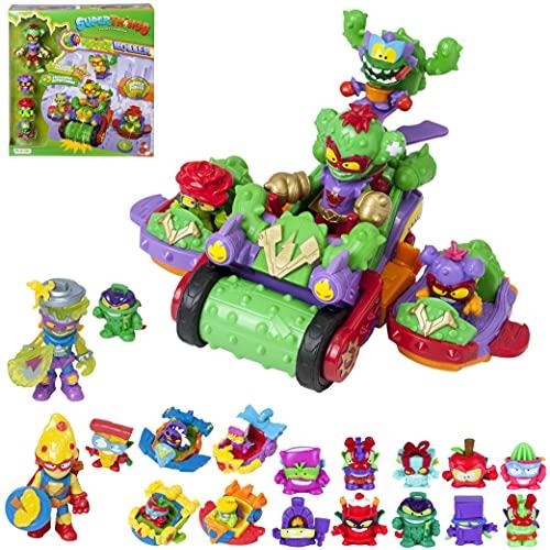 SuperThings Kazoom Kids – Spike Roller y Pack Sorpresa 16 Sets | Contiene Spike Roller, 10 Sobres One Pack, 4 Kazoom Sliders y 2 Kazoom Kids | Juguetes y Regalos para Niños Cumpleaños