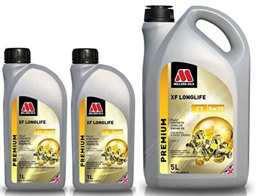 Millers Oils XF Longlife 5w30 C1 volledig synthetische motorolie, 7 liter