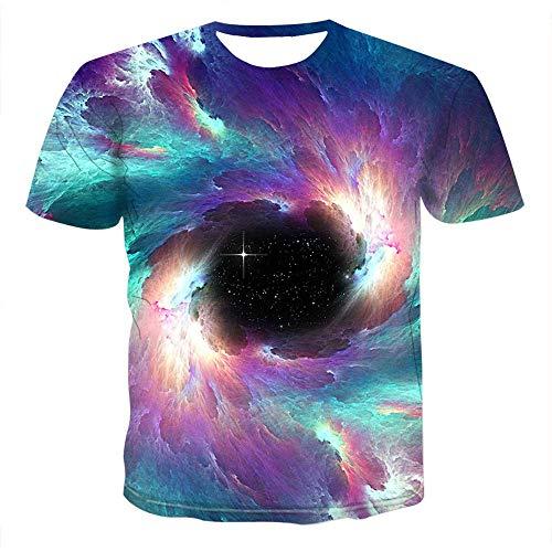 Men's Women's Fashion 3D Print T-Shirts Funny World Map Design/Earth/Biological Crewneck Short Sleeve Novelty Tees 006 3XL
