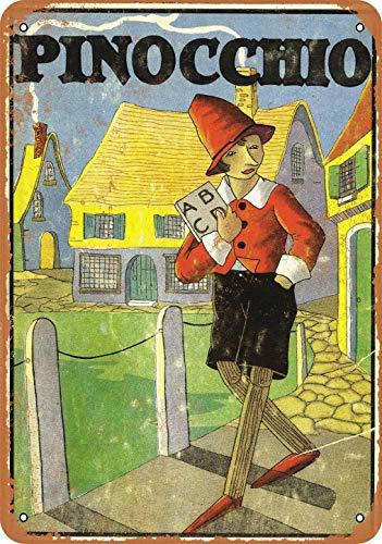 Couverture de livre Pinocchio First Edition 20 x 30 cm - Style vintage - 20 x 30 cm