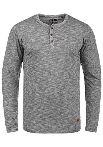!Solid Migos Herren Longsleeve Langarmshirt Shirt Mit Grandad-Ausschnitt Aus 100{1e83a37924cafba8b4814cba9e273a871169b19553f1de6bdb56161cca458048} Baumwolle, Größe:L, Farbe:Black (9000)
