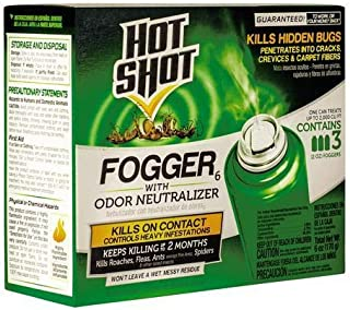 Hot Shot Foggers roaches ant spiders With Odor Neutralizer Insecticide, 3-Count USA