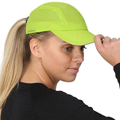 TrailHeads Race Day Performance Laufkappe – Kappe Damen – Leichte, Schnell Trocknende Damen Cap – Schirmmütze Damen - frisches grün