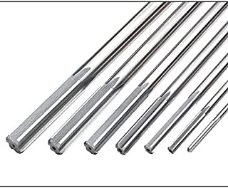 Fraction 1 3//4 Flute Length 0.376 Decimal Equivalent 7 Overall Length Wire and Letter Sizes-0.376 Straight Flute High Speed Steel F/&D Tool Company 27223 Chucking Reamers
